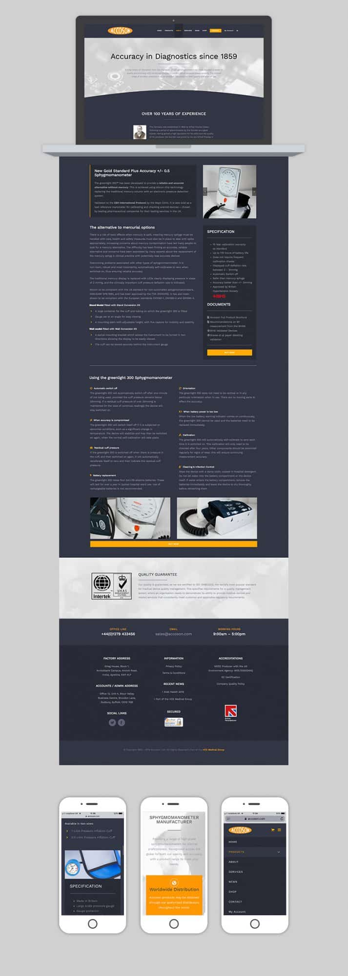 Accoson Website Full Design