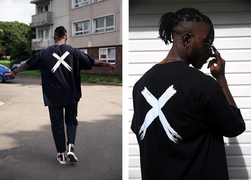 Conx Black Tshirt Design Logo