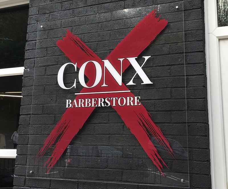 Conx Logo Shop Barber Front Sign