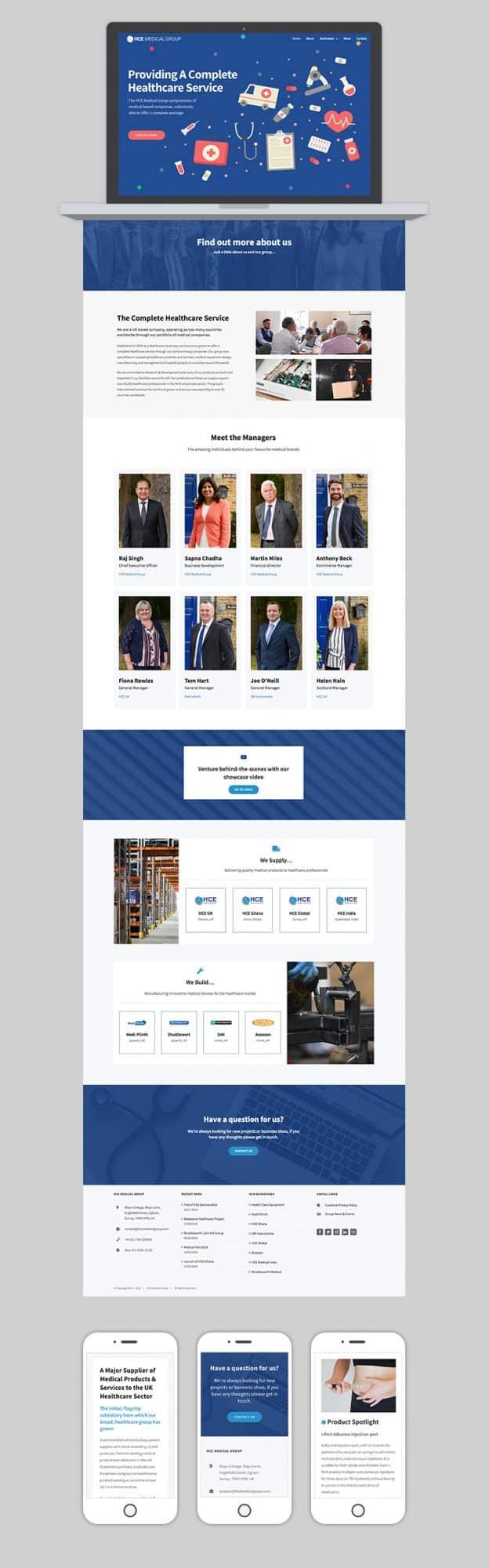 HCE Group Website Full Design