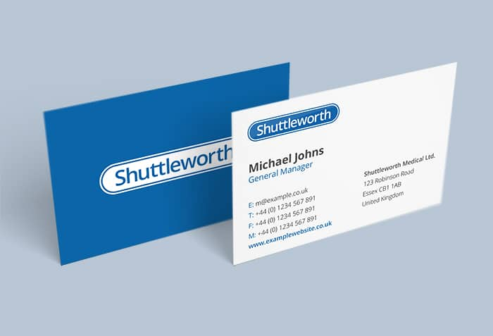 Shuttleworth Business Cards Complete
