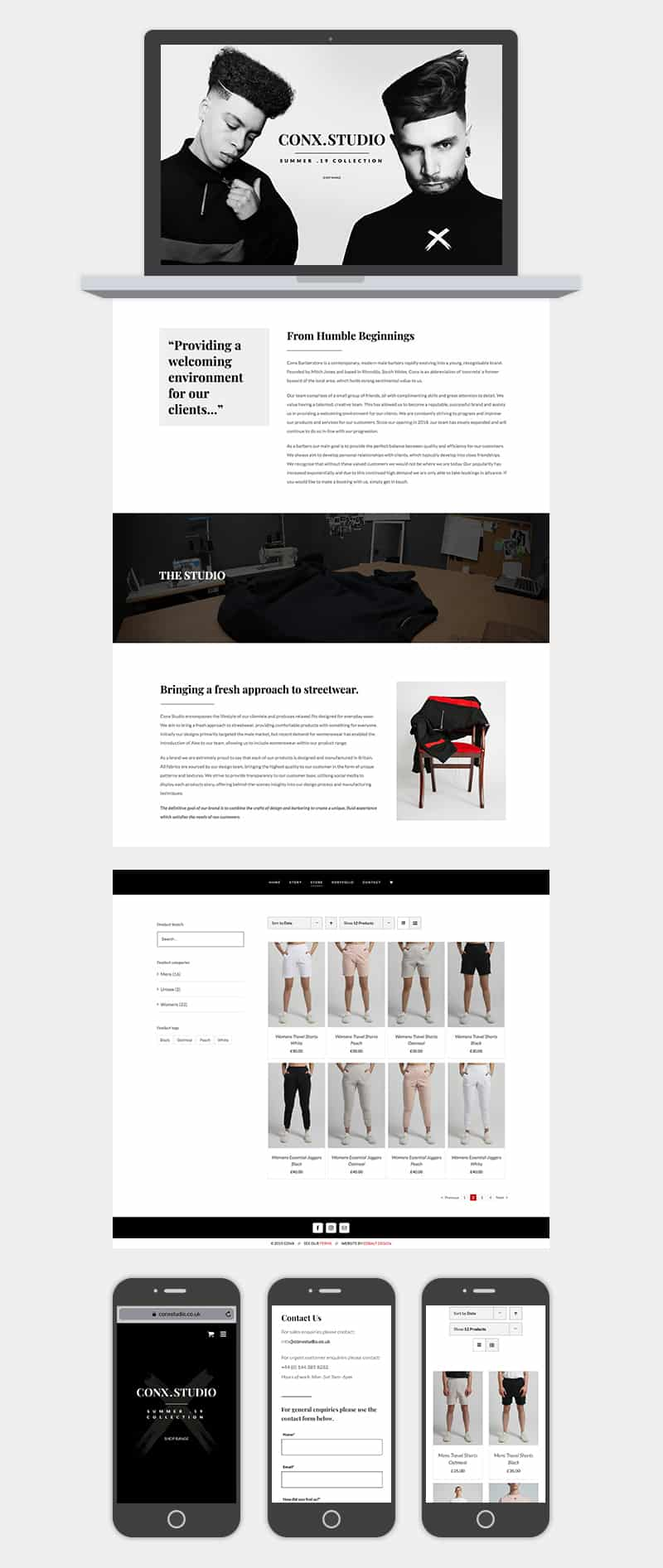 Conx Studio Website Full Design