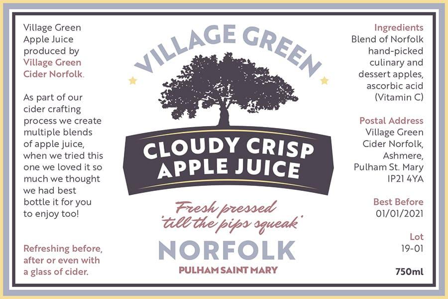 Norfolk Apple Juice Label Landscape