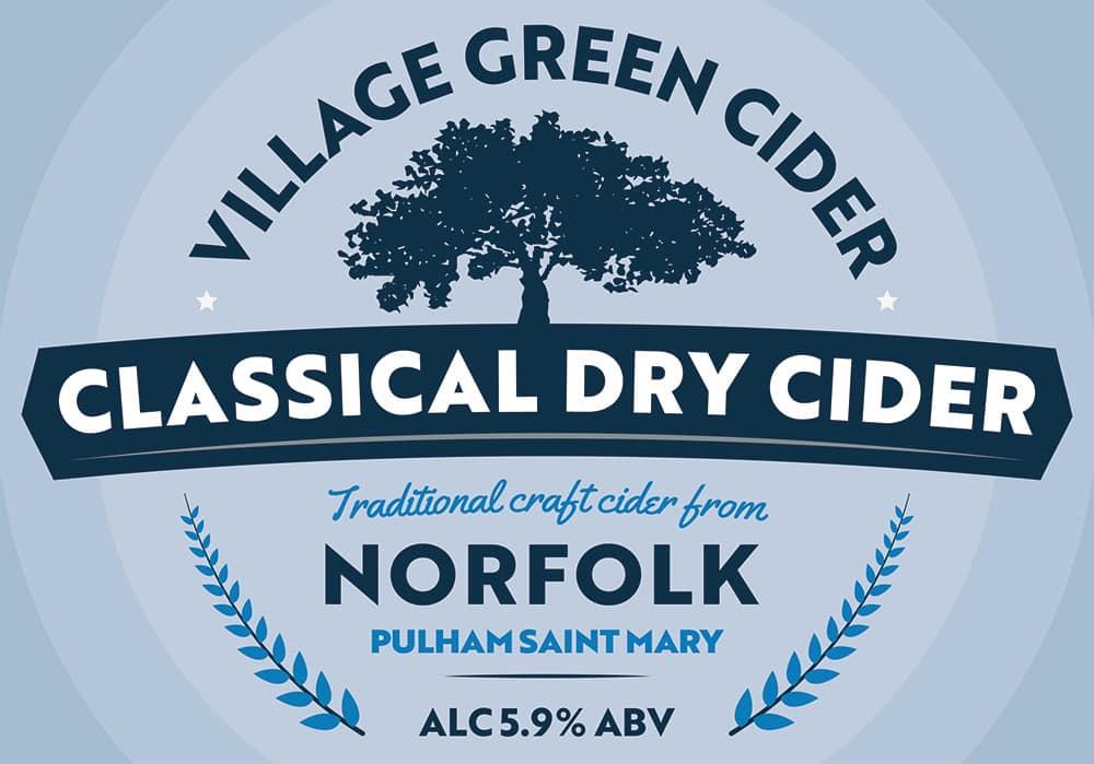 Village Green Norfolk Box Label Blue