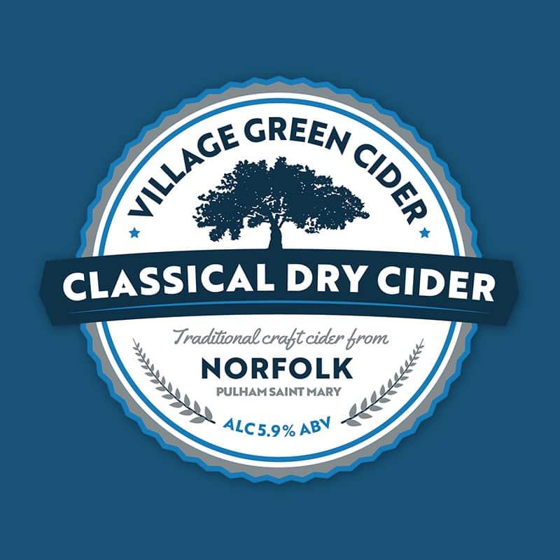 Norfolk Dry Cider Blue Pump Clip