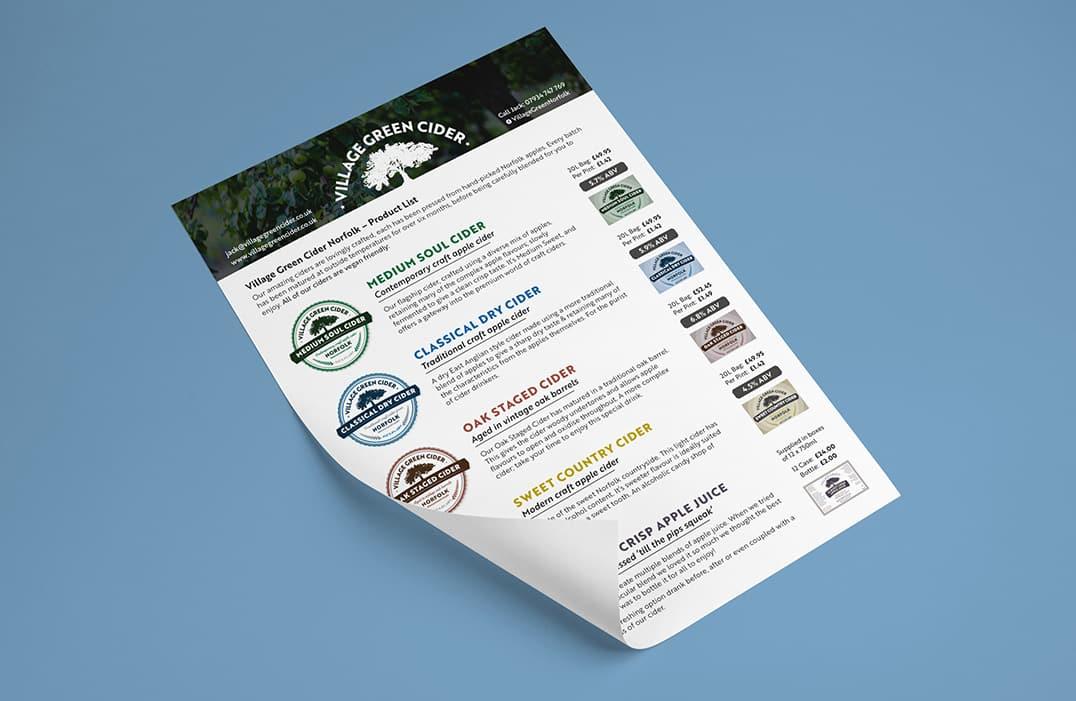 Village Green Norfolk Sales Sheet