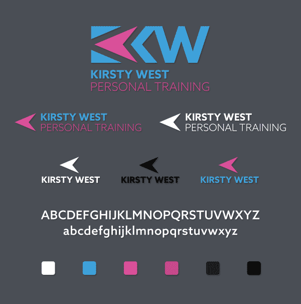Kirsty West Personal Training Logo Design