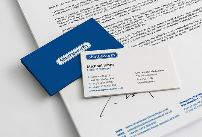 Business Card Design on Identity