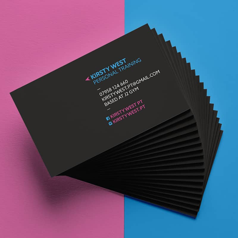 Kirsty West PT Business Card Designs