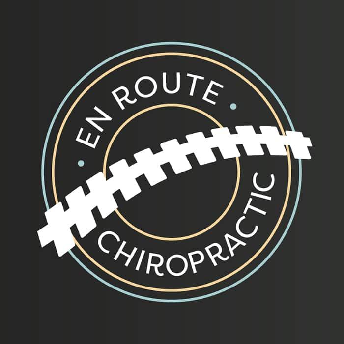 En Route Chiropractor Logo