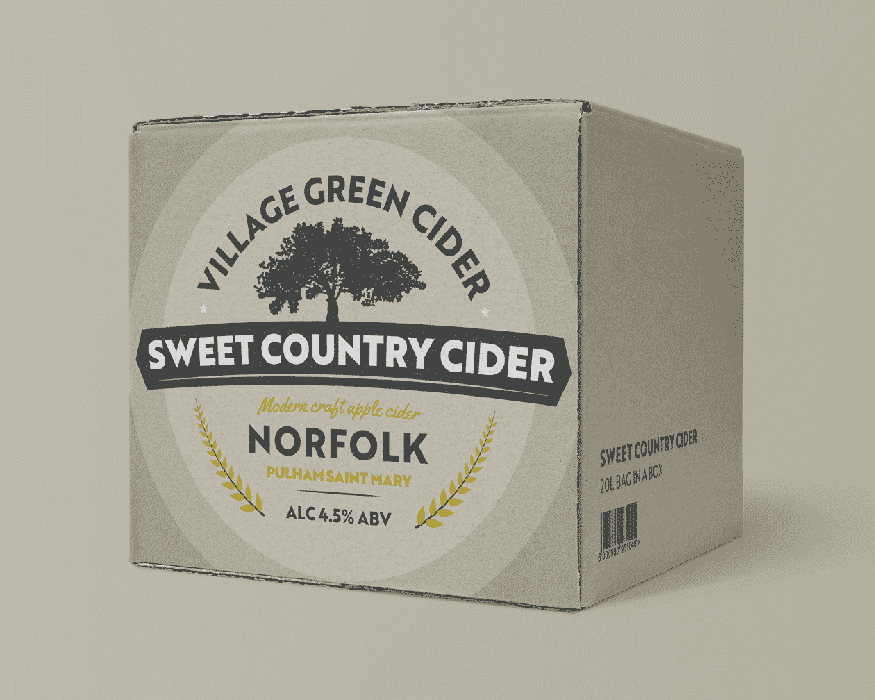 Cider Box Sweet Yellow Branding