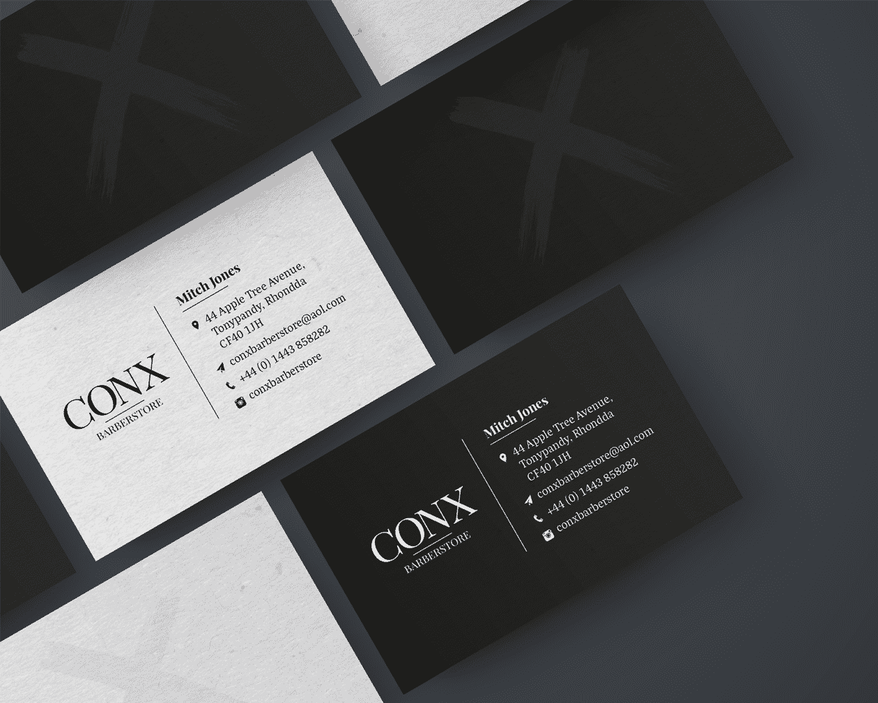 Conx Business Cards Branded Stack