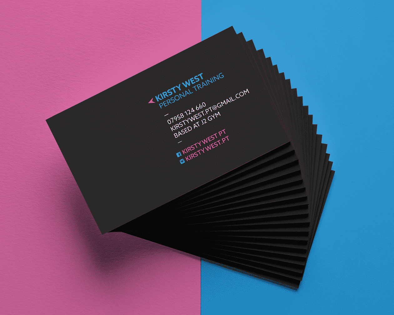 Kirsty West Business Card Stack