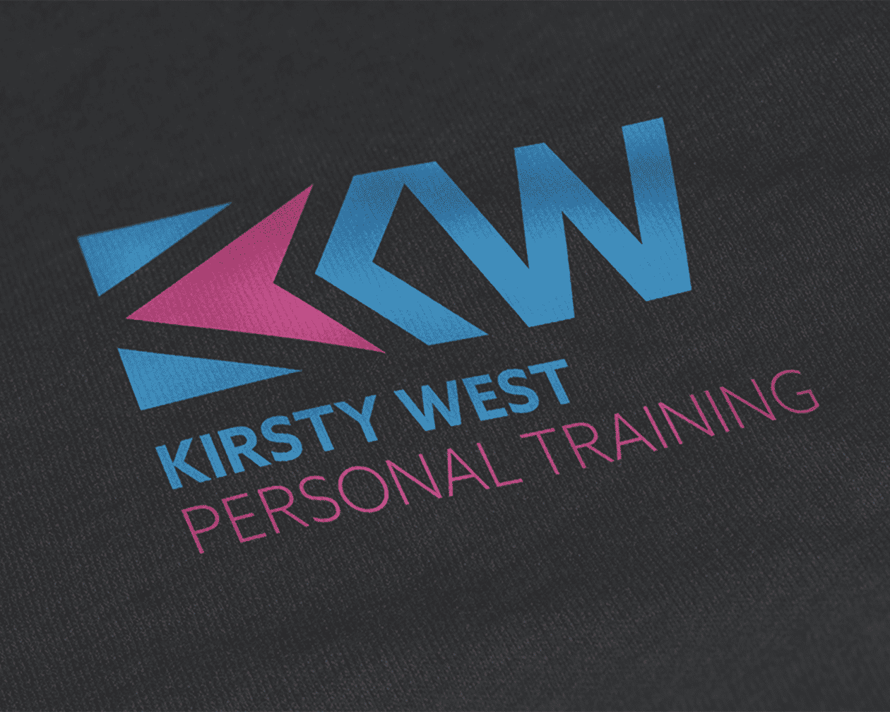 Kirsty West Logo on Cloth