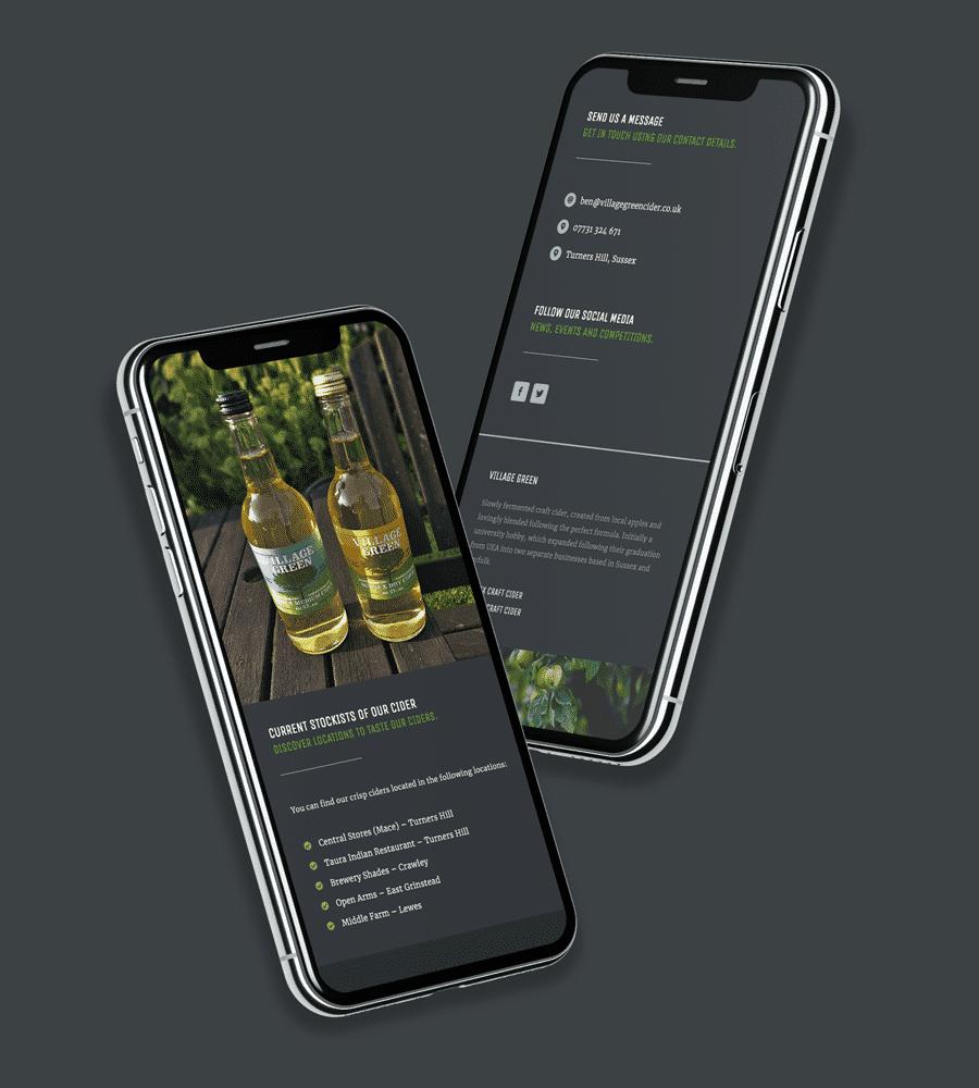 Cider Website Design on Mobile Device