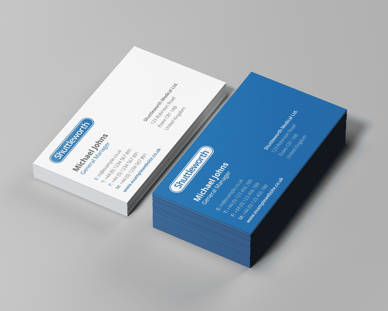 Shuttleworth Business Cards Stacked