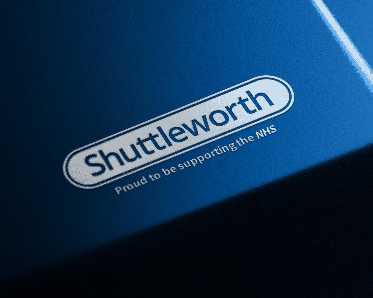 Shuttleworth Raised Sticker Logo