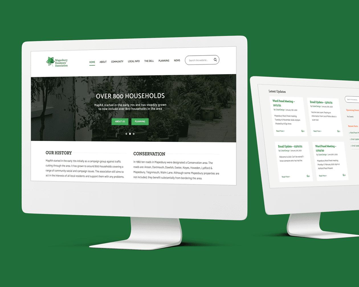Desktop Mapra Website