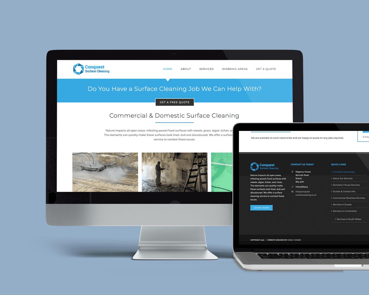 Desktop Surface Cleaning Web